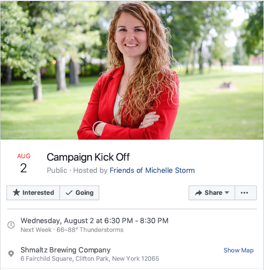 Michelle Storm for Malta Town Justice - Campaign Kick Off @ Schmaltz Brewery | New York | United States