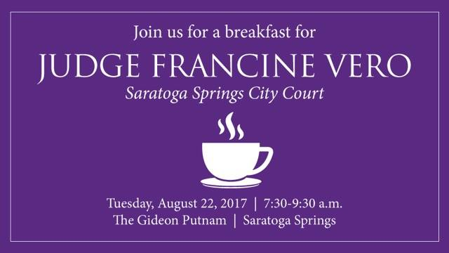 Breakfast with Judge Francine Vero @ The Gideon Putnam | Saratoga Springs | New York | United States